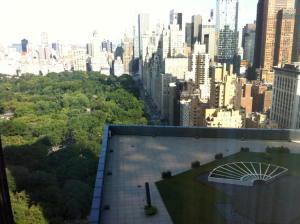 Césped artificial en el hotel  Mandarin Oriental en New York