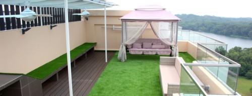 Césped artificial para balcón