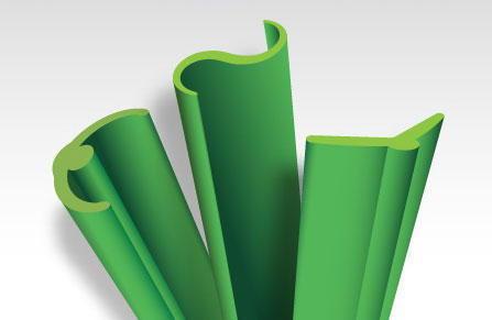 Formas de las fibras del césped artificial