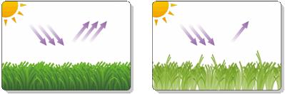 Radiación solar sobre el césped artificial